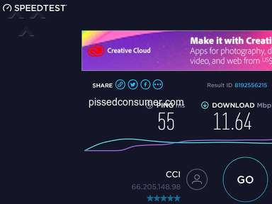 Consolidated Communications - Yes, it is the worst internet, pitiful by today's standards.