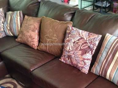 simmons bedding company my simmons faux leather sectional was peeling in several spots