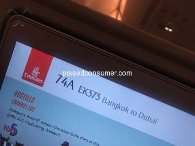 Emirates Airlines - Very bad service from the crew 74AEK373