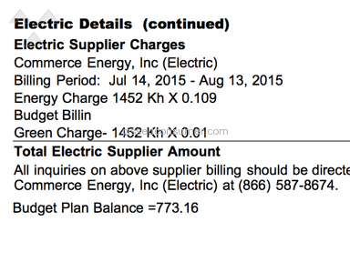 Commerce Energy Budget Billing a Scam