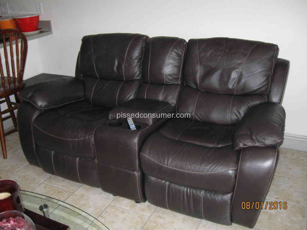 El Dorado Furniture Thomas Brown Leather Sofa Review 157322