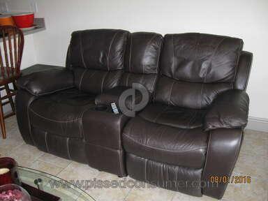 "Peeling ""Genuine Leather"" Sofa from EL DORADO FURNITURE"