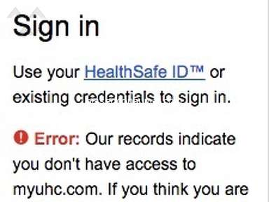 United Healthcare - Log in since HealthSafe ID upgrade