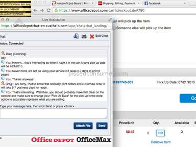 Office Max - No consistency & customer service who clearly dont know what they are talking about