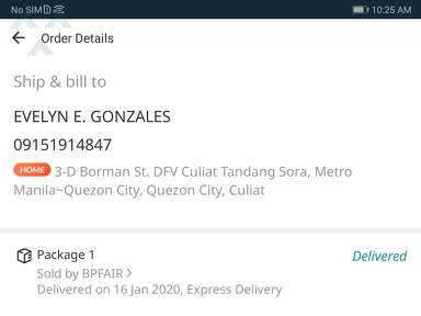Lazada Philippines Shipping Service review 499843