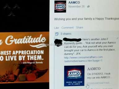 Aamco Service Centers and Repairs review 73833