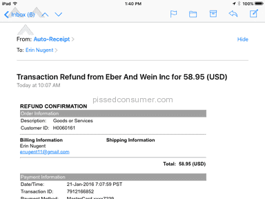 Eber And Wein Publishing - Got money back when I threatened a class action lawsuit