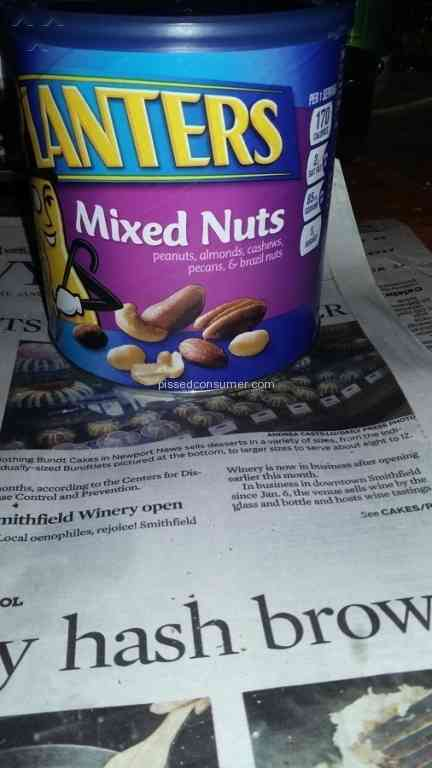 17 Planters Nuts Reviews and Complaints @ ed Consumer on planters guy, planters pecans, planters nutmobile, planters candy, planters nut bar, planters sunflower kernels, planters holiday pack, planters cashews, planters peanutbutter, planters holiday collection, planters mixed nuts, planters honey roasted, planters brittle nut medley, planters sunflower seeds, planters nut man, planters logo, planters potato chips, planters crackers, planters almonds, planters walnuts,