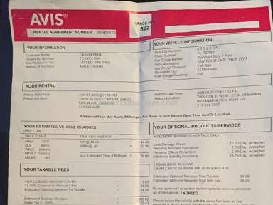 Avis Rentals review 76093
