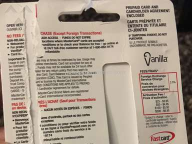 Vanilla Mastercard Gift Card review 172028