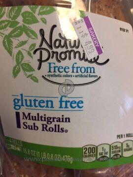 Natures Promise Multigrain Sub Rolls Bread Roll