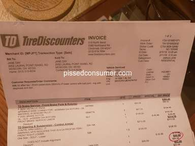 Tire Discounters Customer Care review 379762