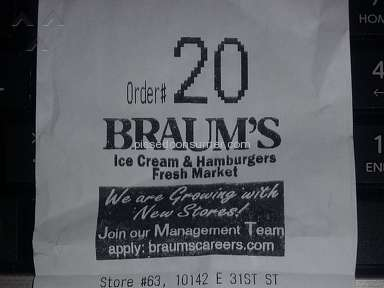 Braums - TULSA STORE #63 ABOMINABLE MANAGER!