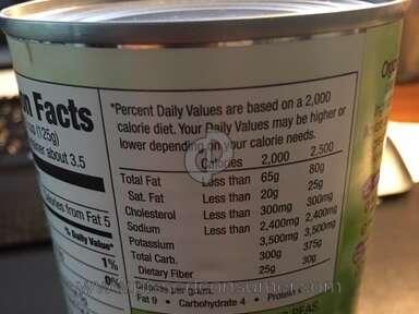 Walmart Great Value Organic Peas review 207392
