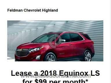 Feldman Chevrolet Of Highland Dealers Advertisement review 247688