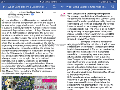 Woofgang Bakery And Grooming Fleming Island - Poor Customer Service, Privacy Information Violation, Harrassment