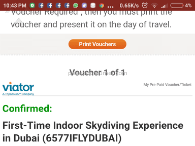 Viator - First-time Indoor Skydiving Experience In Dubai Event Ticket Review