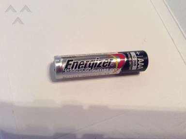 Energizer - AAA battery overheated to burn level in a pepper grinder