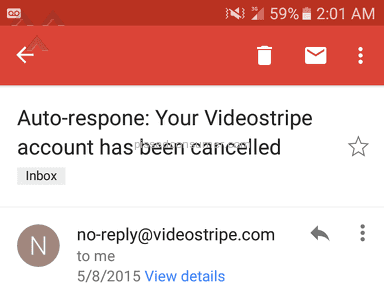 Videostripe - Charged after i cancelled