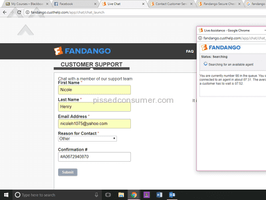 Fandango - Charged for a fee, 2 hours waiting on hold
