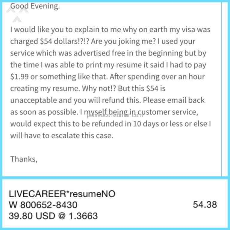 10 Livecareer Free Trial Reviews And Plaints Pissed Consumer. Livecareer Free Trial Review From Oakville Ontario. Resume. Livecareer Resume Review At Quickblog.org