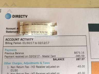 Directv - Bill kept increasing while on a 2 year guaranteed Contract!