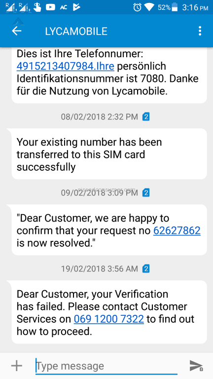 Lycamobile Sim Card Reviews and Complaints