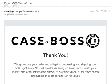Case Boss - Robbed me!