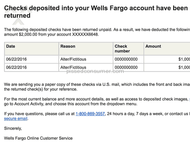 Wells Fargo Check review 145846