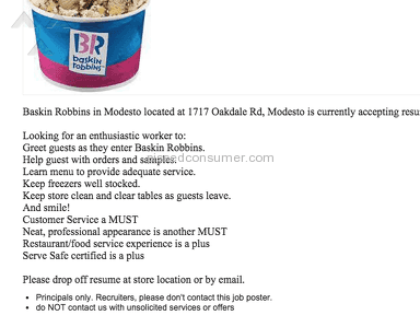 Baskin Robbins Food Stores review 69117