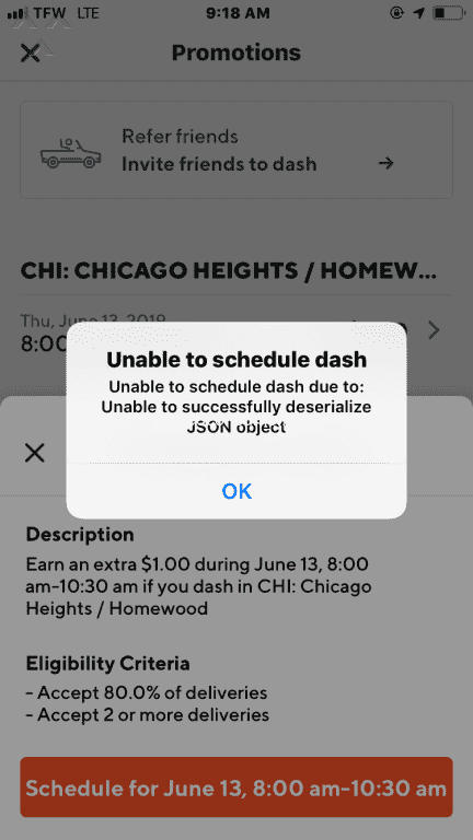 Doordash Dasher Mobile Application Reviews and Complaints
