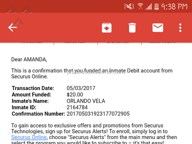 Securus Technologies - I MADE A PAYMENT OF $20.00 TO SECURUS INMATE CALLING IT GOT APPROVED BUT WHEN MY LOVED ONE CALLS IT STILL DOESNT GO THROUGH AND I HAVE THE CONFIRMATION