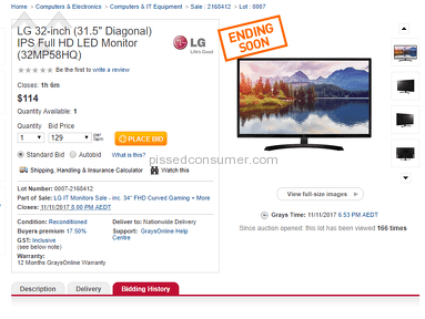 Graysonline Electronics Bidding review 241062
