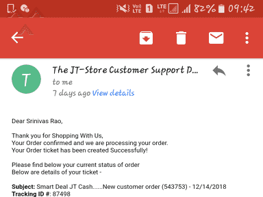 The Jt Store - Bad response