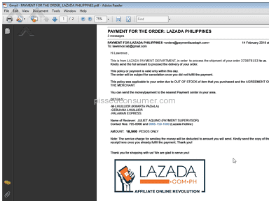 Lazada Philippines Shipping Service review 269726