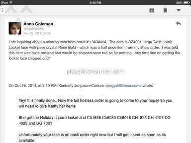Origami Owl - Non existent customer service - missing items never received