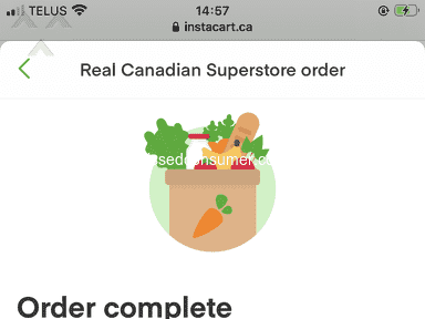 Instacart Customer Care review 785266