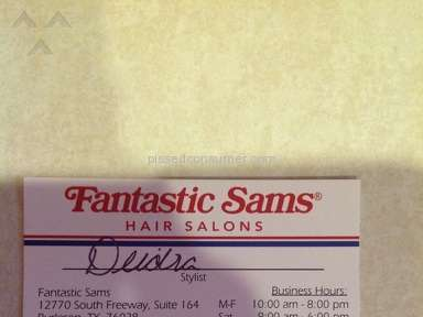 Fantastic Sams Beauty Centers and Spas review 92215