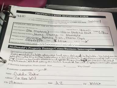 Mcdonalds - Complaint about store service