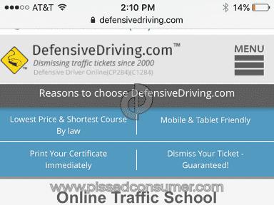 DefensiveDriving Com Course review 190526