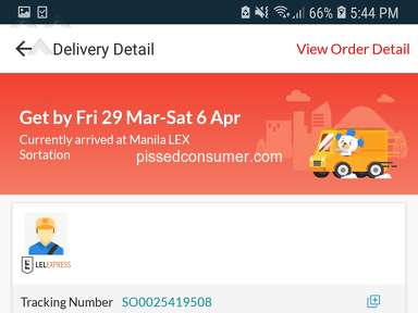 Lazada Express - STOP USING LEL EXPRESS ITS THE WORST 2 DELIVERIES FAILED