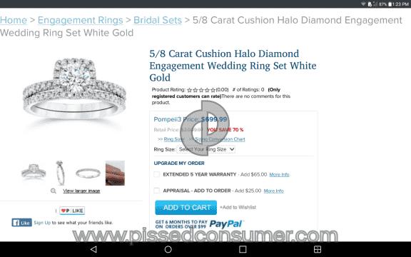 Bliss Diamond Engagement White Gold Ring