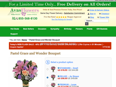 Avasflowers Delivery Service review 159070