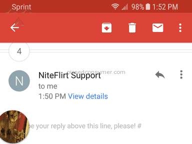 Niteflirt - Got fired for apparently knowing someone