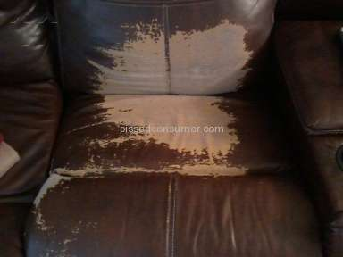 Value City Furniture - Leather recliner sectional peeling......leather alomst gone!