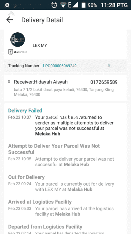 92 Lazada Malaysia Delivery Service Reviews and Complaints   Pissed ... b6b801c350