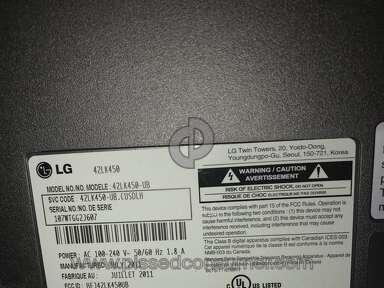 Lg Electronics 42Lk450 Tv review 262616