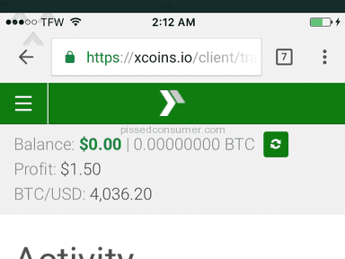 Xcoins stole my money I have proof