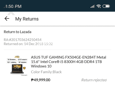 Lazada Philippines - Lazada return service is a joke