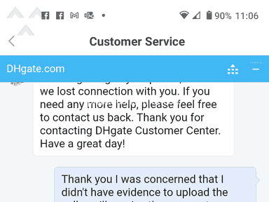DHgate Shipping Service review 830526